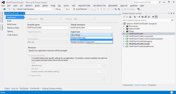 Switching project types between Class Library, Windows Runtime Component and Windows Store App in Visual Studio